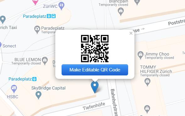 Make an editable QR Code